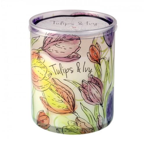 candle-lite candela aromática tulips & ivy 16oz - barulu