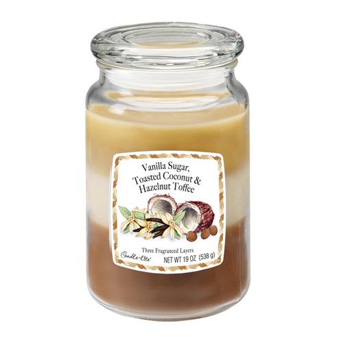 candle-lite candela aromática vanilla sugar, toasted coconut