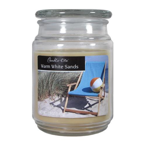 candle-lite candela aromática warm white sands 18oz - barulu