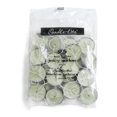 candle-lite candela tealights fresh melon slice 25 unidades