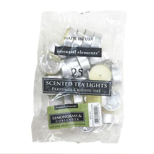 candle-lite candela tealights lemongrass & corian slice 25