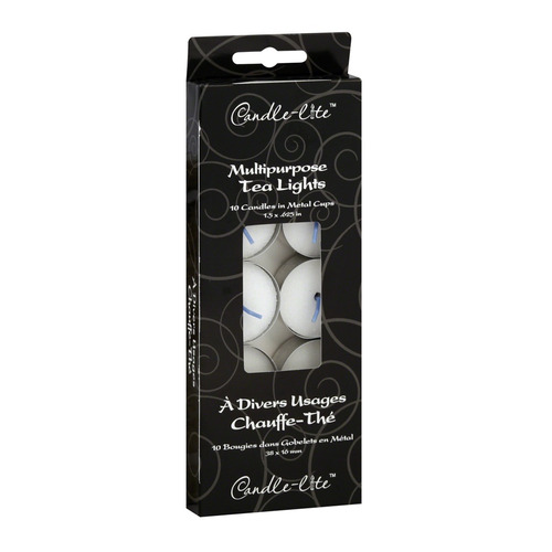 candle-lite candela tealights sin aroma 10 unidades - barulu