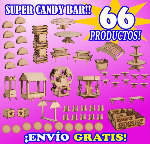 candy bar 66 productos! fibrofacil e l m a s c o m p l e t o