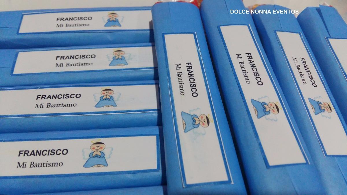 a8cf3c5f8 Candy Bar Bautismo En Celeste / 60 Golosinas Personalizadas! - $ 780 ...