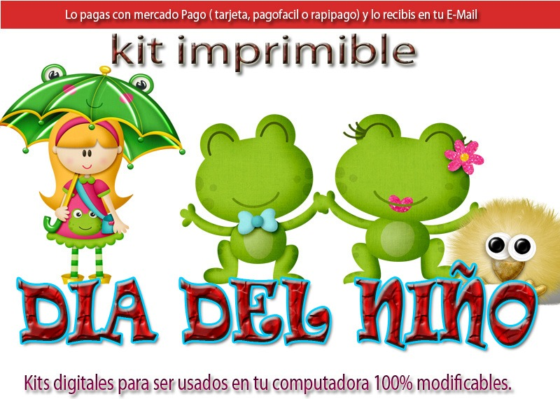 Candy Bar Dia Del Niño Kit Imprimible Cotillon Golosinas - $ 73,50 ...