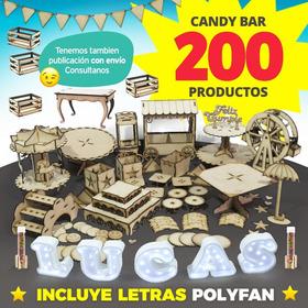 Candy Bar Fibrofacil Combo Candybar Mdf + Letras Polyfan !