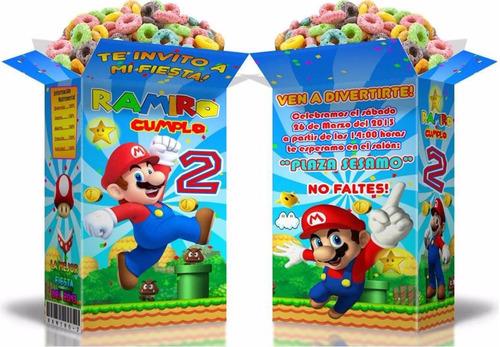 candy bar golosinas mario bross kit imprimible