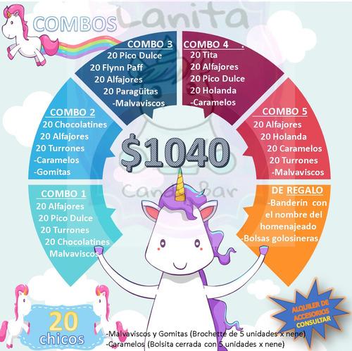 candy bar / golosinas personalizadas 20 nenes / 100golosinas
