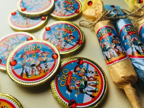 candy bar, golosinas personalizadas simil toy story  en tela