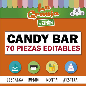 Candy Bar Granja De Zenon Editable Imprimible 70 Items