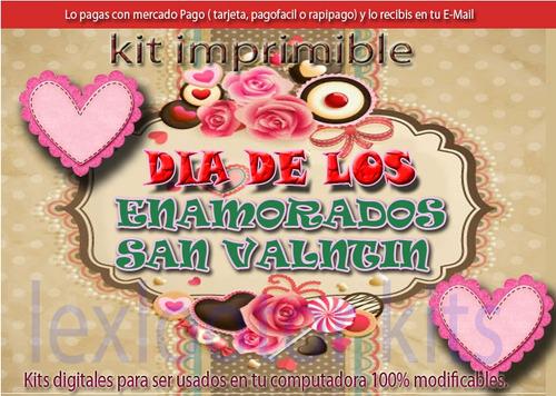 candy  bar kit imprimible amor