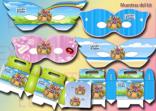 candy  bar kit imprimible arca de noe bautismo