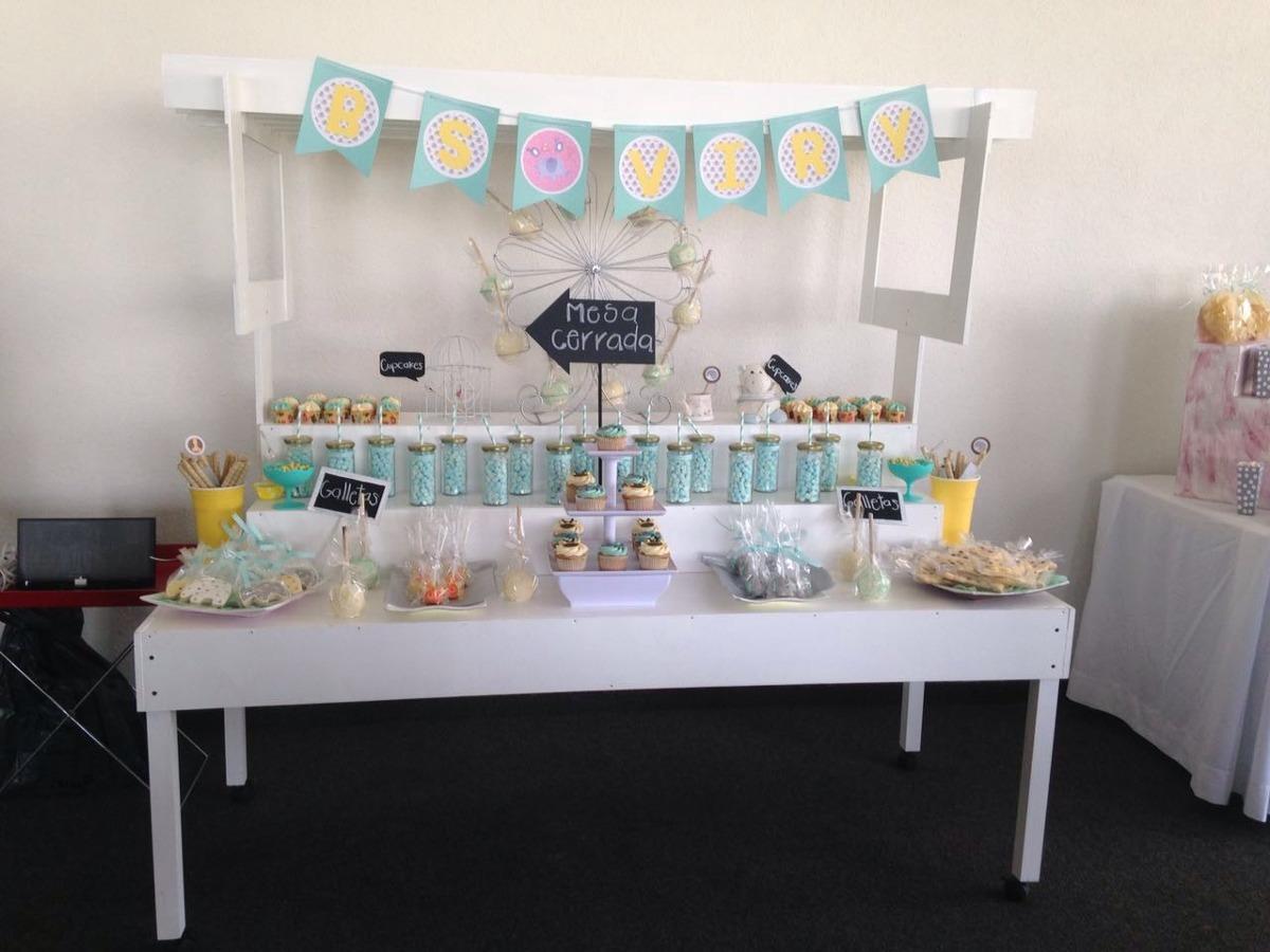 Candy bar mesa de dulces o postres para cualquier evento for Backdrop para mesa de dulces