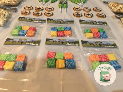 candy bar personalizado fortnite para 20 niños