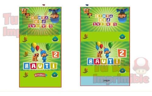 candy bar pocoyo kit imprimible golosinas modificable