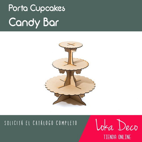 candy bar porta cupcakes x3 pisos! fibrofácil - oferta!