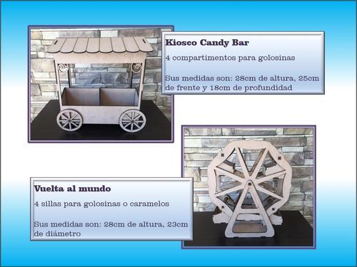 candy bar set madera fibrofacil mdf candybar envio gratis!!