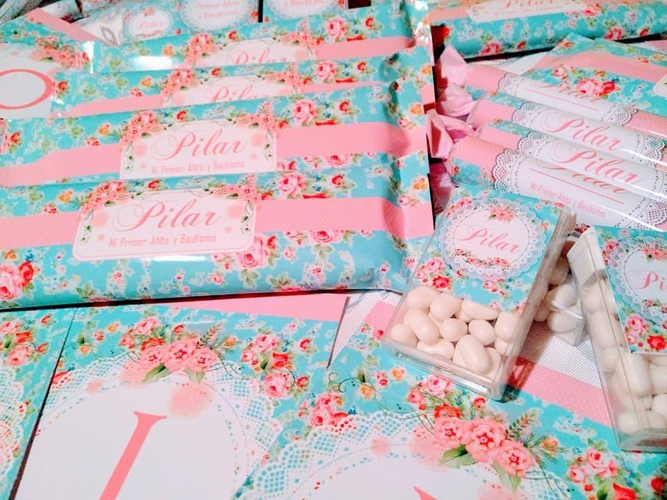 0eca96828 Candy Bar Shabby Chic,golosinas Personalizadas,celeste, Rosa - $ 900 ...