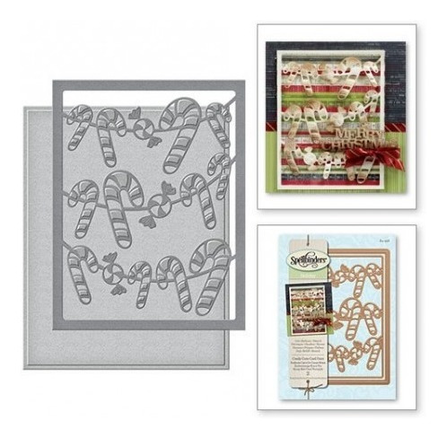 candy canes card front card creator etched dies
