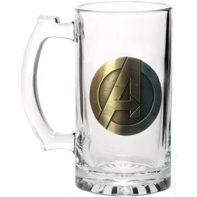 Caneca Avengers Emblema Metal 3d Vingadores Marvel Original