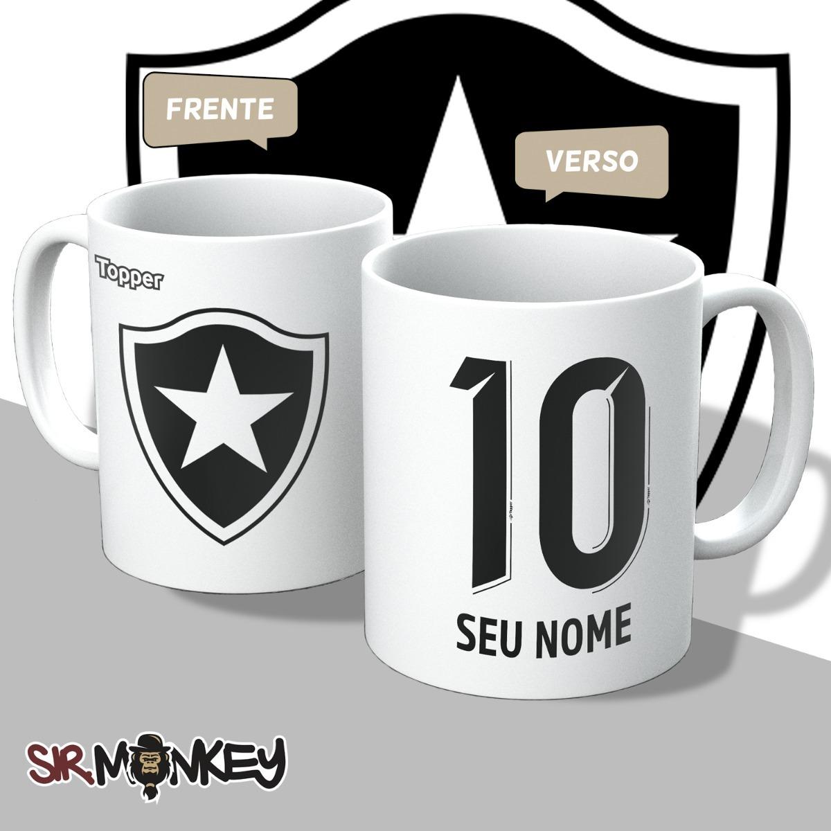 Caneca Botafogo Personalize Nome E Número Branca - R  29 0989093d2b467