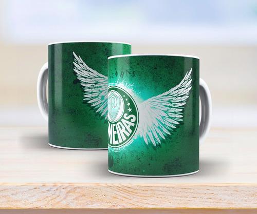 caneca branca personalizada do palmeiras com asas
