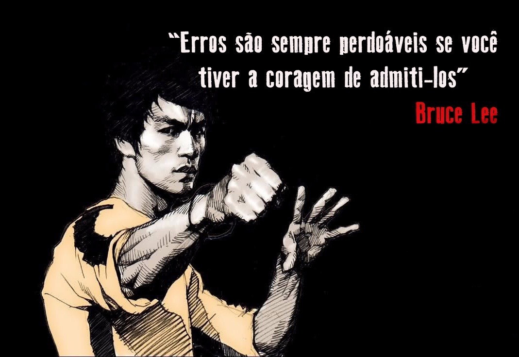 Caneca Branca Yin Yang Bruce Lee Kung Fu Frases Artes Mod 2