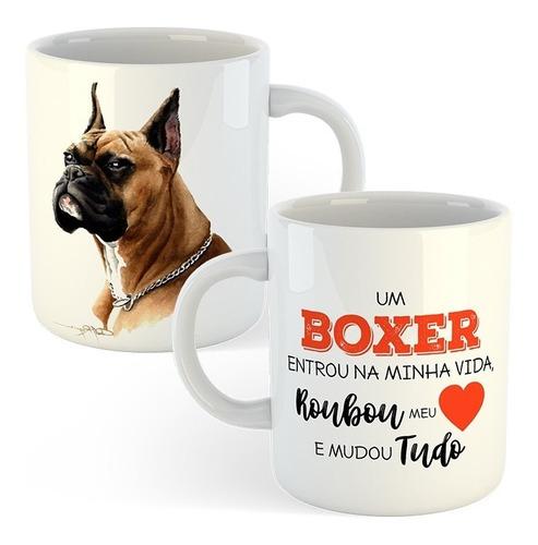 caneca cachorros - boxer - cães de raça