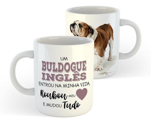 caneca cachorros - raça buldogue inglês / english bulldog #1