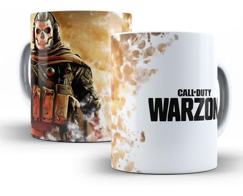caneca call of duty warzone em cerâmica
