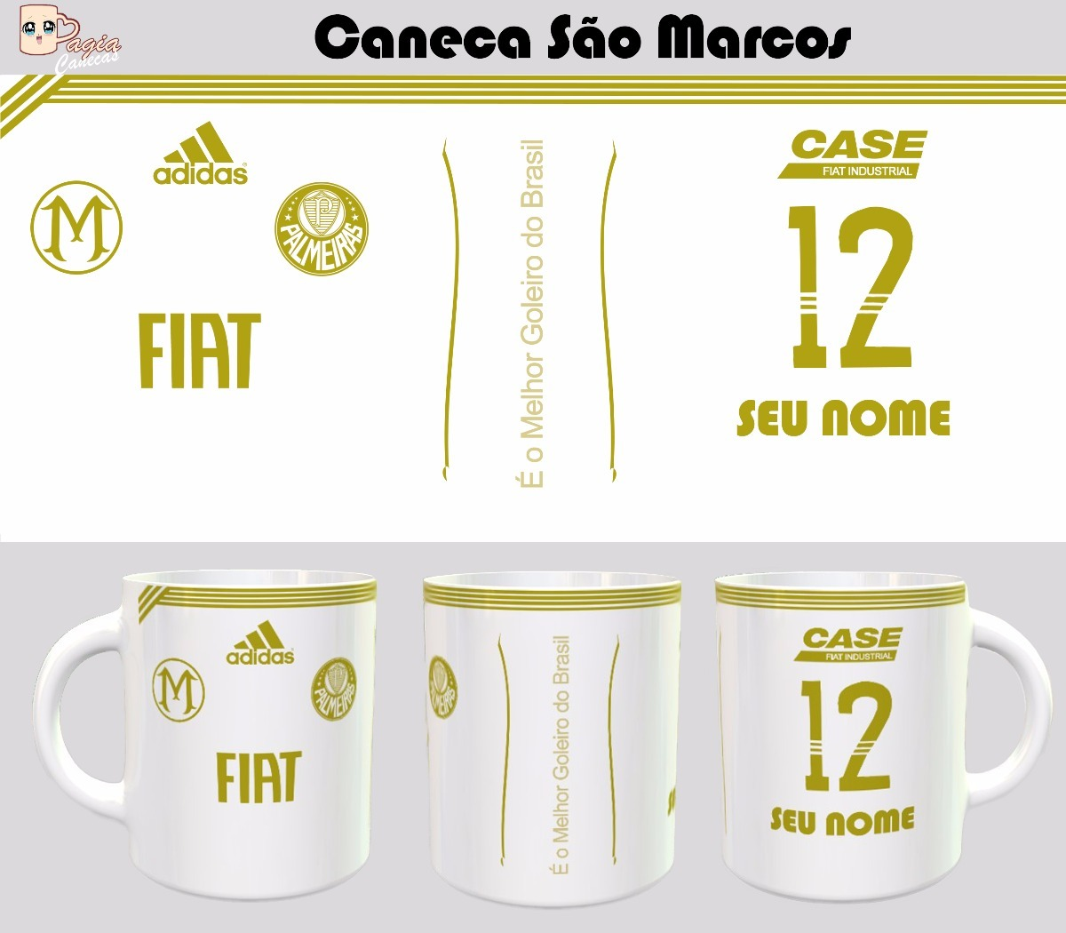d20852f538 Caneca Camisa São Marcos Palmeiras - Lançamento - R  38