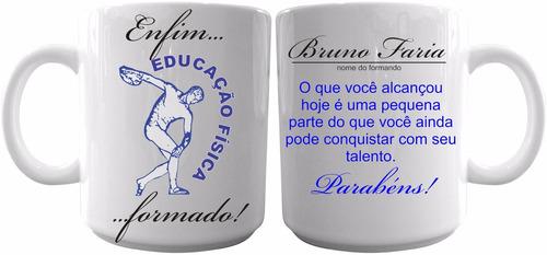 caneca cerâmica personalizada formatura educação fisica