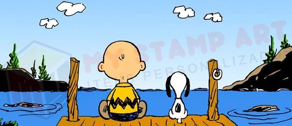 Caneca Charlie Brown Snoopy Hq Desenho Tv Porcelana Presente R