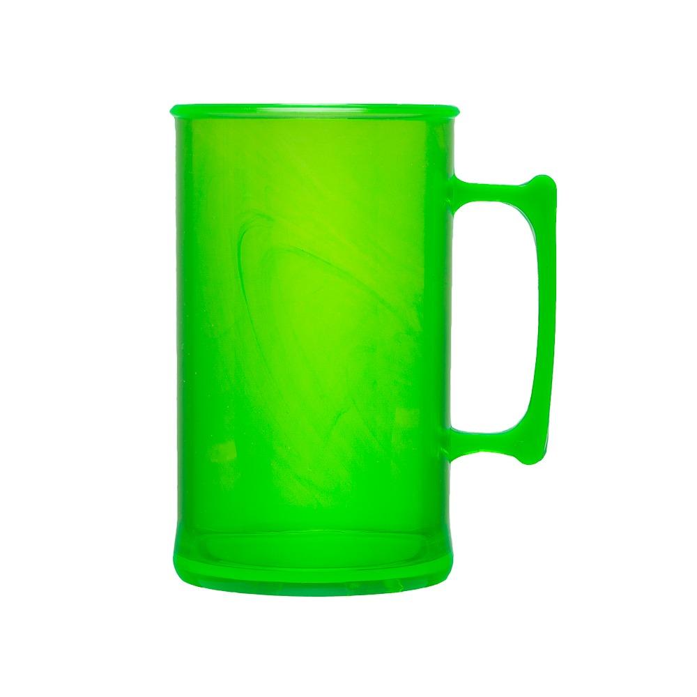 dcbb67f3d Caneca De Chopp Acrílica 300 Ml Verde Neon 100 Unidades - R  103