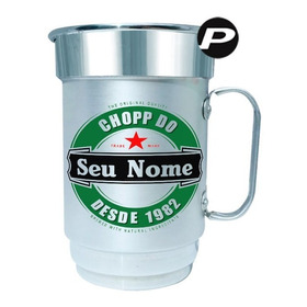 Caneca Chopp Com Rótulo De Cerveja Personalizado De Alumínio