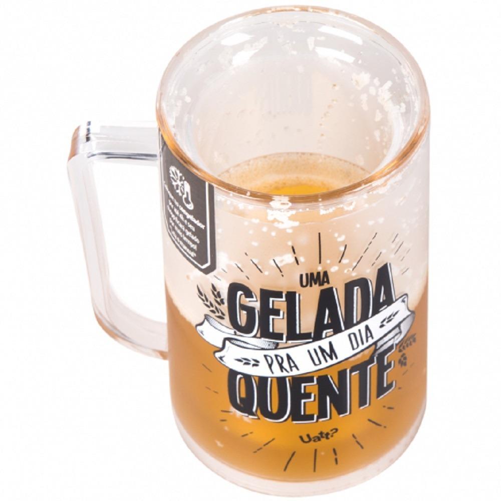 305bb7b95 caneca chopp térmica gel congelante copo amo cerveja uatt  Carregando zoom.