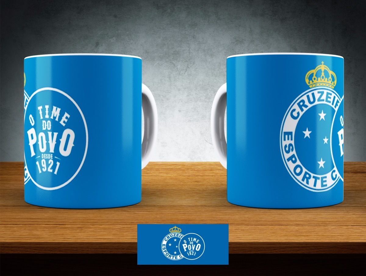c3bc5296e9582 Caneca Cruzeiro - Clube De Futebol - Modelo 01 Ao 06 - R  16
