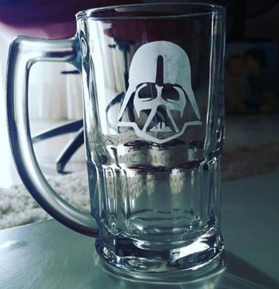 47739aa0e Caneca De Chopp Vidro 350ml Decorada Personalizada Star Wars - R  25 ...