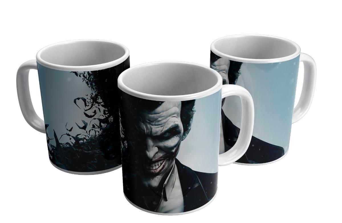 ce887f82d67b70 Caneca De Porcelana Personalizada Batman Coringa Desenho