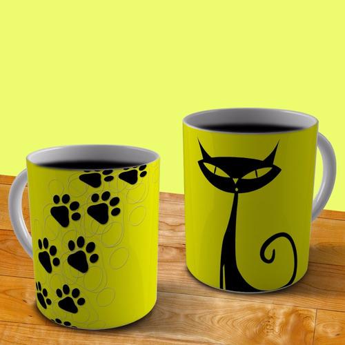 caneca de porcelana personalizada - gatos