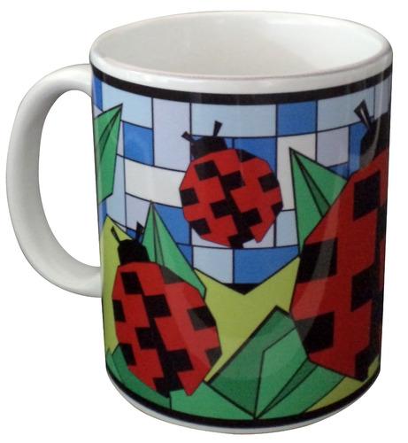 caneca de porcelana personalizada - joaninha