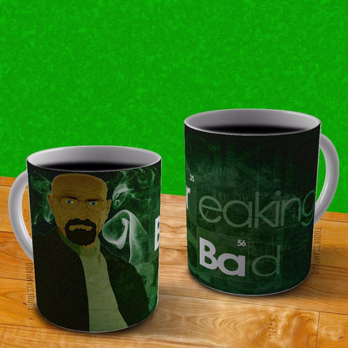caneca de porcelana personalizada - série breaking bad