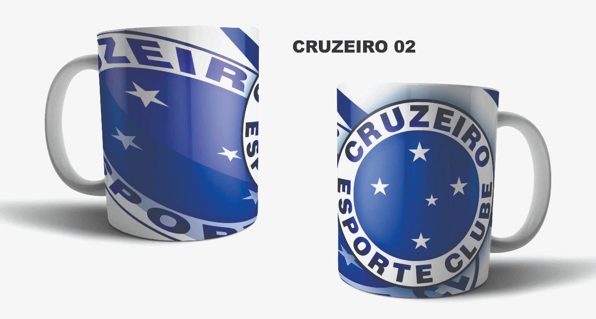 caneca de porcelana sublimação time de futebol cruzeiro 02. Carregando zoom. b7fa97ceb0b53