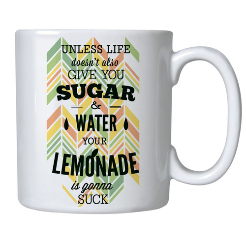 caneca de porcelana sugar lemonade