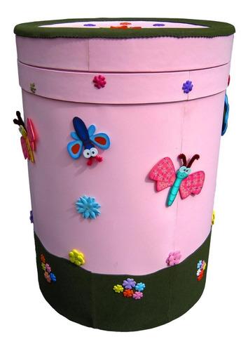 caneca decorada para la ropa sucia o para guardar juguetes