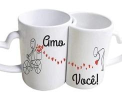Caneca Dupla Love Personalizadas Dia Dos Namorados R 4500