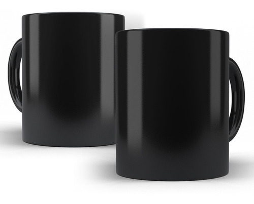 caneca em cerâmica personalizada - preta com sua arte