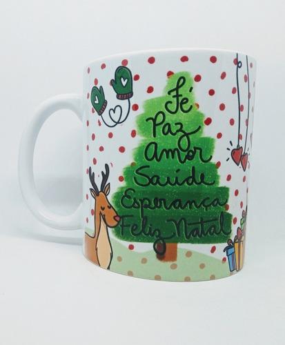 caneca em cerâmica personalizada tema natal