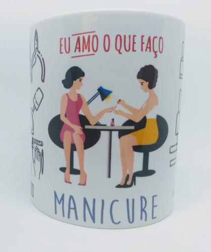 caneca em cerâmica profissão manicure
