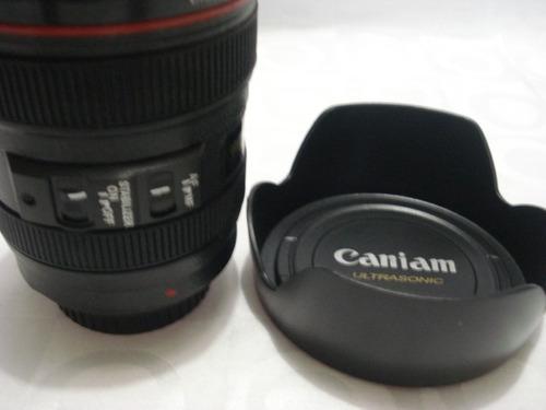 caneca em forma de lente canon 300 ml copo simulado